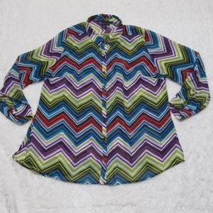 Lane Bryant Long Sleeve Button Up Size 18/20